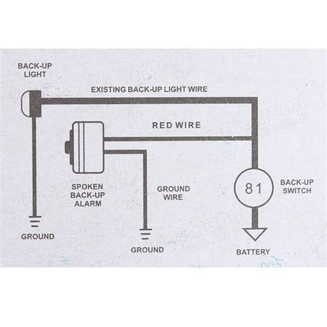 backup alarm wiring diagram 27 wiring diagram images