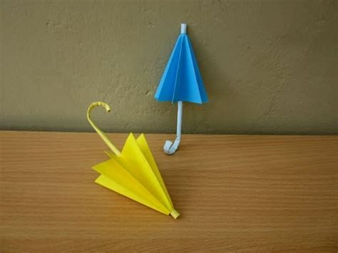 Umbrella Paper Craft - how to make a paper umbrella rainy season easy