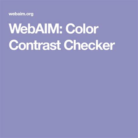 color contrast checker webaim color contrast checker ferramentas para web