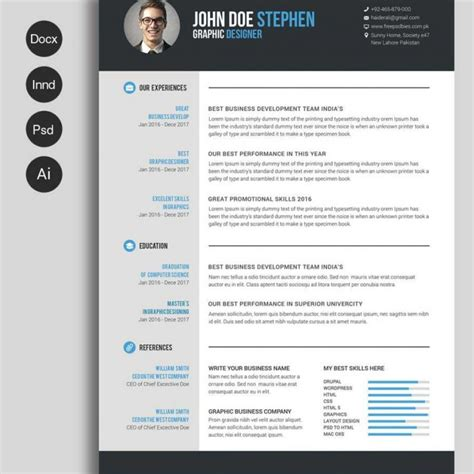 Professional Resume Templates In Word by Professional Cv Template In Word