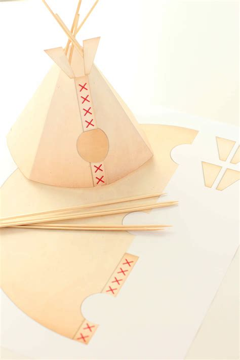 How To Make Paper Teepees - tipi