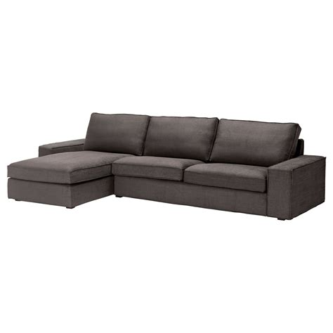 kivik sofa and chaise lounge kivik three seat sofa and chaise longue tullinge grey