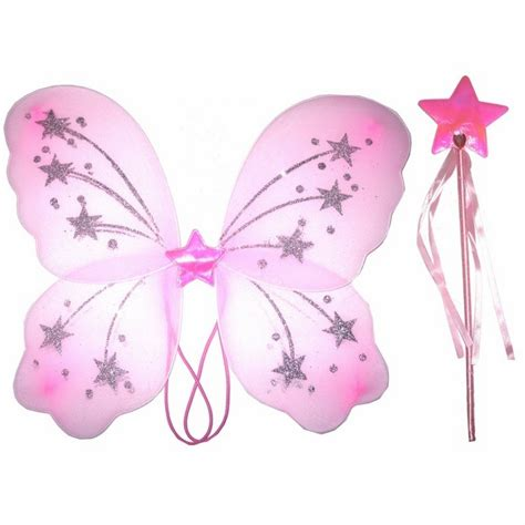 fairy wings amp wand pink white lilac