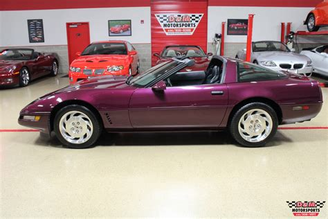 corvette purple 1995 chevrolet corvette coupe 6559 purple