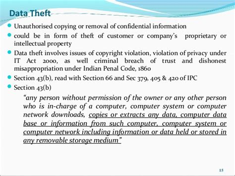 ipc section 405 data privacy in india and data theft