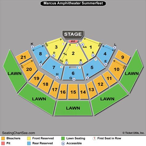 american family insurance amphitheater seating chart