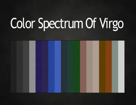 virgo colors colors of the zodiac astrology color palettes abstar ology