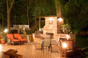 deck with fireplace outdoor spaces