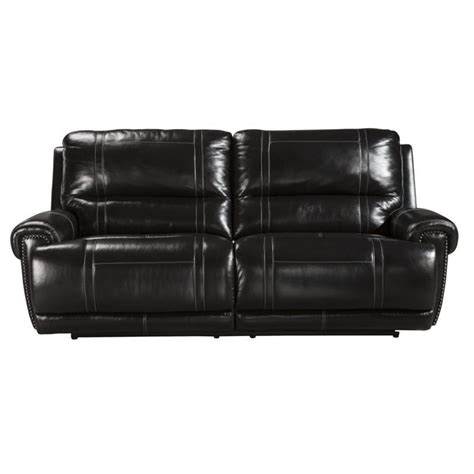 2 Seat Leather Reclining Sofa Paron Leather 2 Seat Power Reclining Sofa In Antique U7590147
