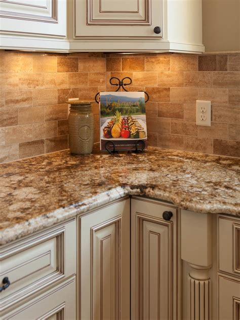 kitchen counter backsplash traditional tuscan kitchen makeover chantal devane hgtv