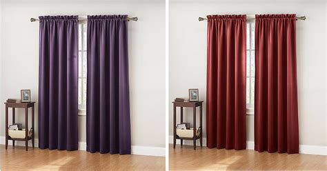 Colormate Curtains Sears 7 99 Colormate Jillian Room Darkening Curtain