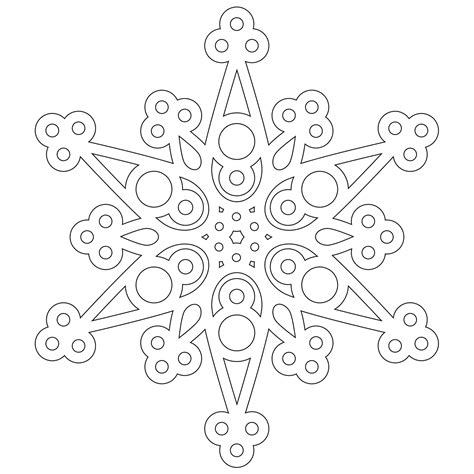 free a half dozen snowflakes to color from don t eat the