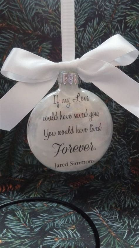 memorial christmas ornament in memory loved by