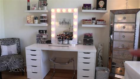 Makeup Vanity Ideas For Bedroom jaclyn hill just posted a makeup room tour on youtube