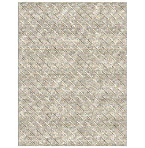 Rug 4x6 by Valencia Beige Knotted Tibetan Wool Rug 4x6 Kathy