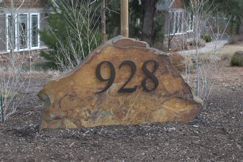Landscape Rock House Number Modern Dwell House Numbers