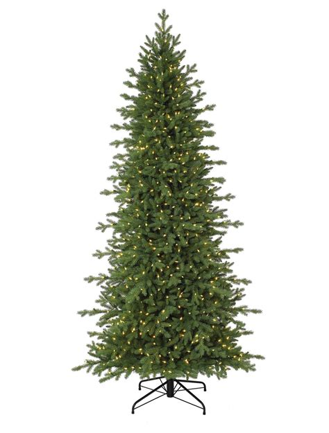 red spruce slim artificial christmas tree balsam hill