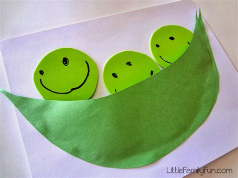 craft for family pea pod craft