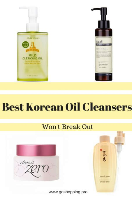 best face oils seoul best korean oil cleansers that won t break you out go shopping