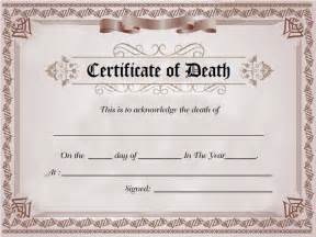 death certificate sample of death certificate template