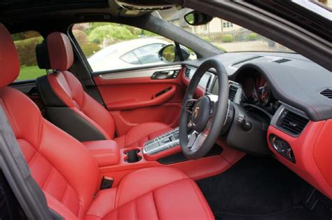 white porsche red interior porsche macan red n black interior automobiles