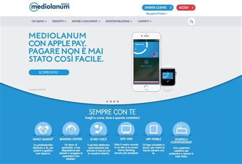 sito mediolanum apple pay in italia ora funziona con mediolanum
