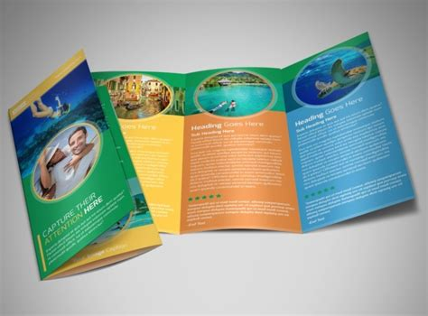 Awesome Tri Fold Brochure Design by Awesome Tourism Activities Brochure Template Mycreativeshop