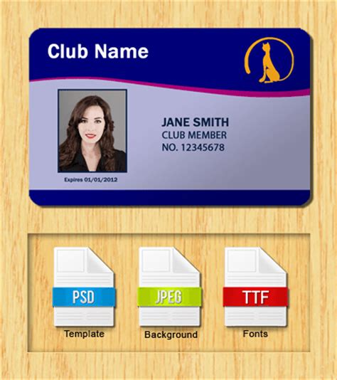membership card template size membership id templates