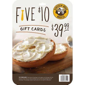 gift cards - Costco Einstein Bagels Gift Card