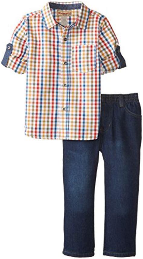 Hq 17288 Pocket Plaid Shirt headquarters boys plaid yellow roll up sleeve shirt with multi 5 buy