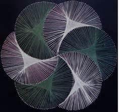 The Beautiful String Book - pictura vortex auriu tablou string ilie