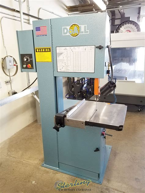 Used Doall Vertical Contour Bandsaw W Variable Frequency