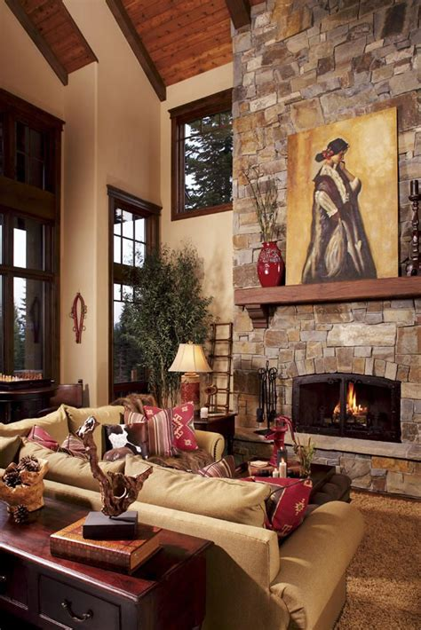 rustic home interior chic decor for the ski chalet the well appointed house
