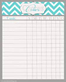 free printable chore chart templates printable chore chart template