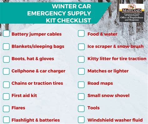 Philosophy Winter Weather Survival Kit by Garrett County Health Department