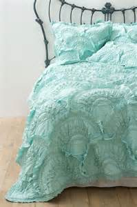 Anthropologie Comforter Rivulets Quilt Mint Contemporary Quilts And Quilt