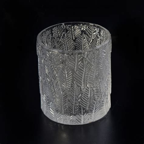 Fancy Votive Candle Holders by Fancy Leaf Embossed Clear Glass Votive Candle Holder