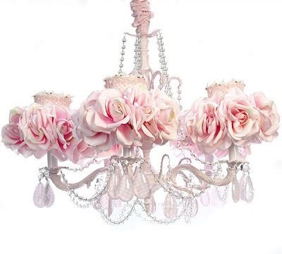 Seprai Shabby Chic 2 5 arm light pink chandelier luxury nusery lighing floral lighing shabby chic l shabby