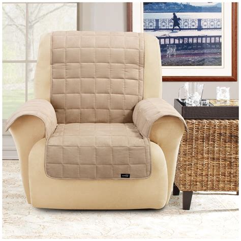 waterproof recliner protector sure fit 174 waterproof quilted suede wing chair recliner