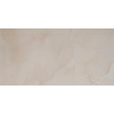 ms international onice ivory 12 in x 24 in polished porcelain floor and wall tile 16 sq ft