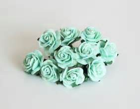 mint colored flowers 10 pcs mint color mulberry paper 2 cm roses by