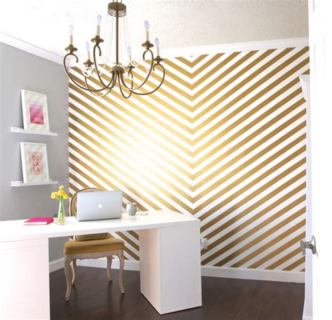 gold accent wall how to give your home some pizazz with shine metallic