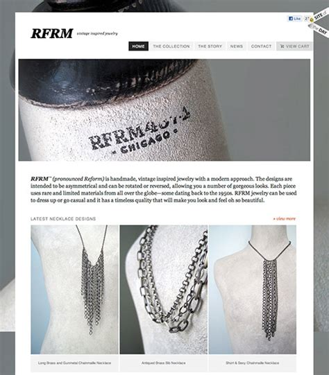 Handmade Jewelry Website - showcase of beautiful or creative e commerce websites