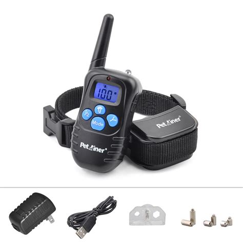 electric collar rechargeable electric e collar 100lv shock vibra remote pet collar ebay
