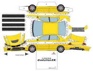 Paper Car Template by Mitsubishi Paper Cars Cartype