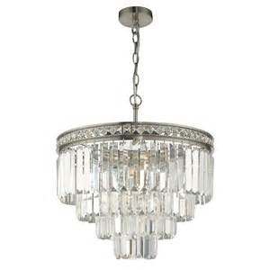 Ceiling Chandeliers Dar Vya0438 Vyana 4 Light Brushed Nickel