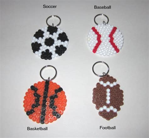 perler sports items similar to sports perler bead key chains baseball