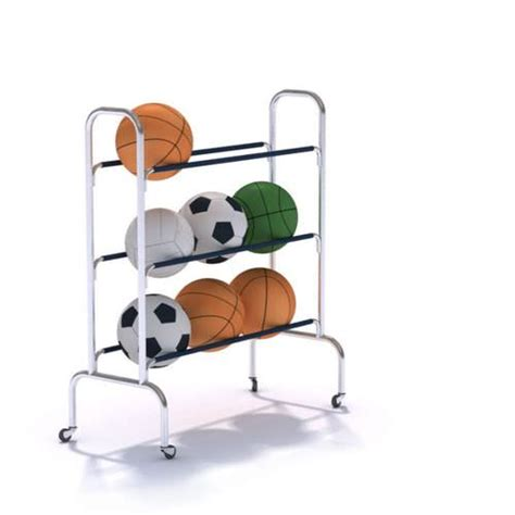 Sports Equipment Rack by Sports Equipment Rolling Rack 3d Model Cgtrader
