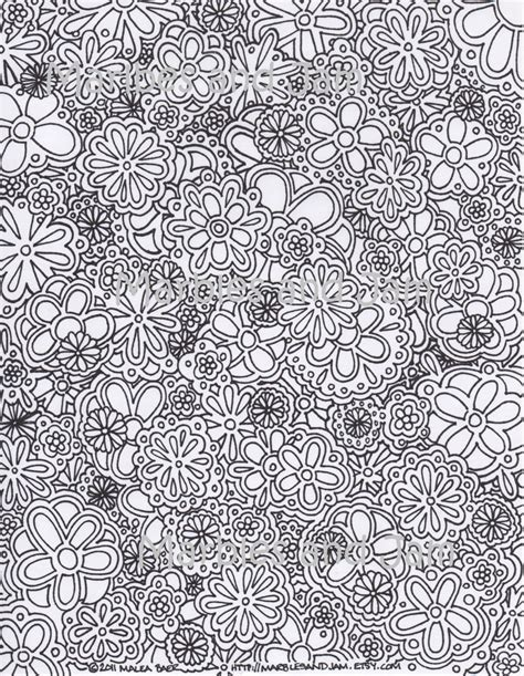 crazy hard coloring pages flowers abstract adult printable coloring page