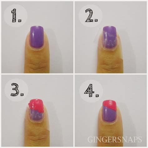 Easy Nail Art For Beginners Video | diy easy nail art for beginners using scotch tape